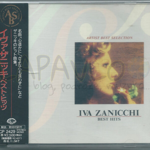 Iva Zanicchi – Best Hits (Japan, 1993, Seven Seas, KICP 2429) – Front cover
