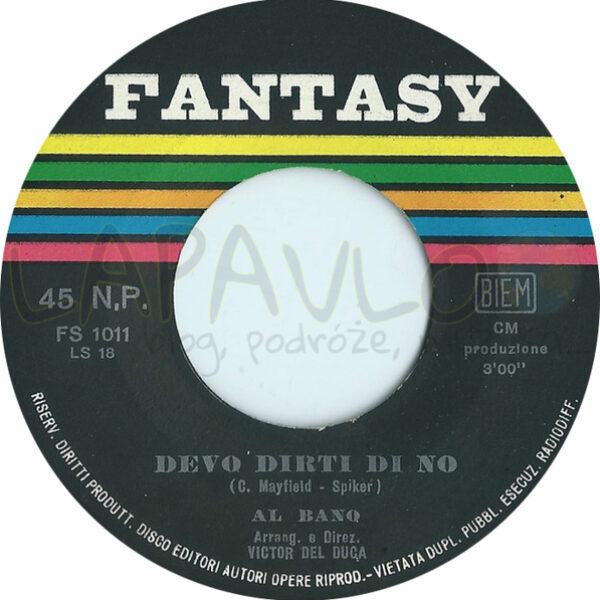 Al Bano – La Strada (1965, Italy, Fantasy, FS 1011) – Side B