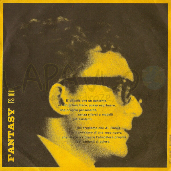 Al Bano – La Strada (1965, Italy, Fantasy, FS 1011) – Back cover