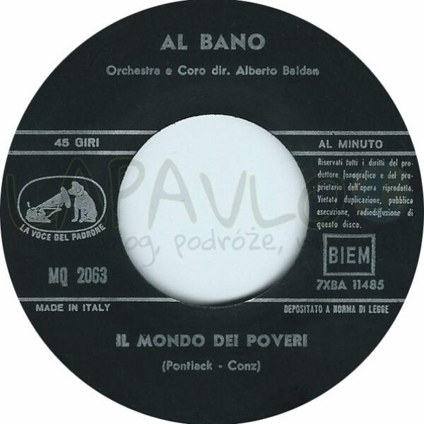 Al Bano – Quando Il Sole Chiude Gli Occhi (Italy, 1966, La Voce Del Padrone, MQ 2063) – Side B